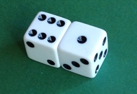 two dice joined together