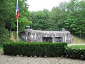 The entrance to Ouvrage Schoenenbourg along the Maginot Line in Alsace, public domain image from Wikipedia