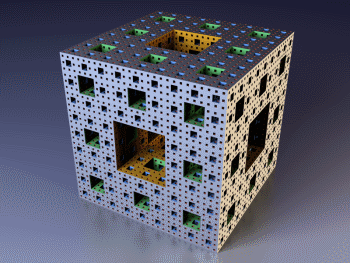 Menger sponge photo via Wikipedia