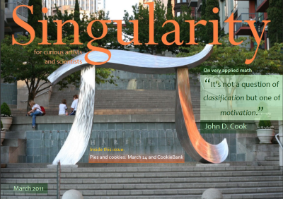 screen shot of the cover of Singularity, March 2011