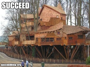 Treehouse photo from Succeed Blog
