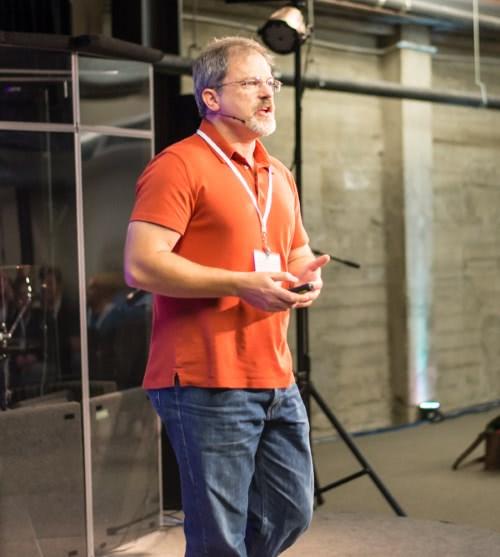 John Cook speaking at KeenCon