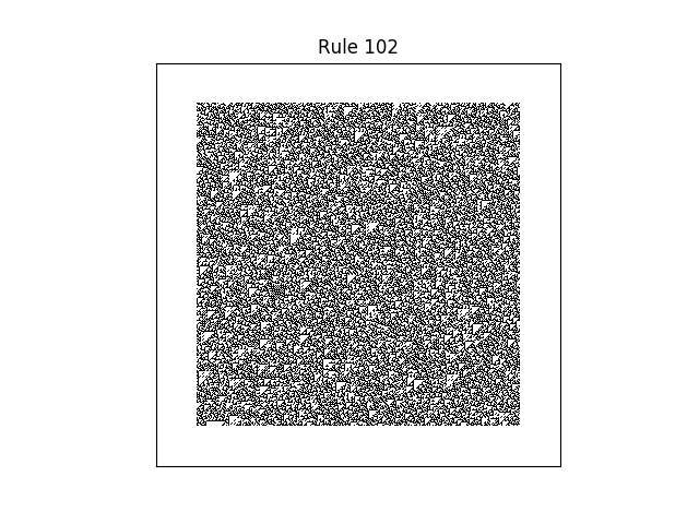 rule 102 with random initial conditions