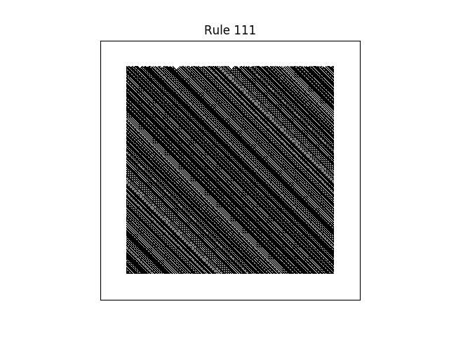 rule 111 with random initial conditions