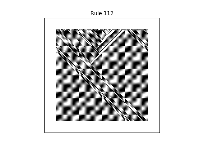 rule 112 with random initial conditions