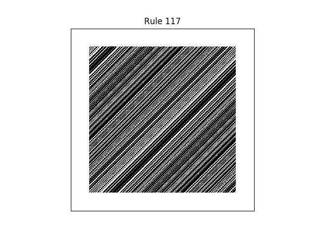 rule 117 with random initial conditions