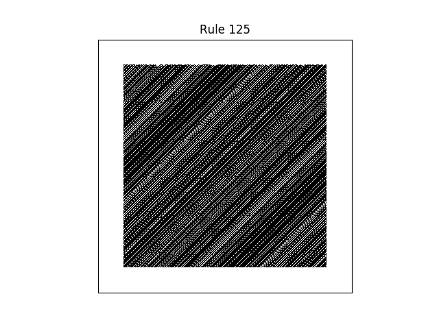 rule 125 with random initial conditions