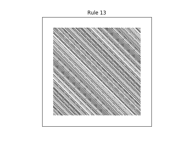 rule 13 with random initial conditions