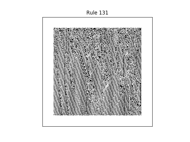 rule 131 with random initial conditions