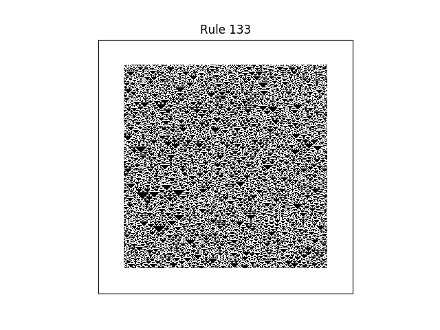 rule 133 with random initial conditions