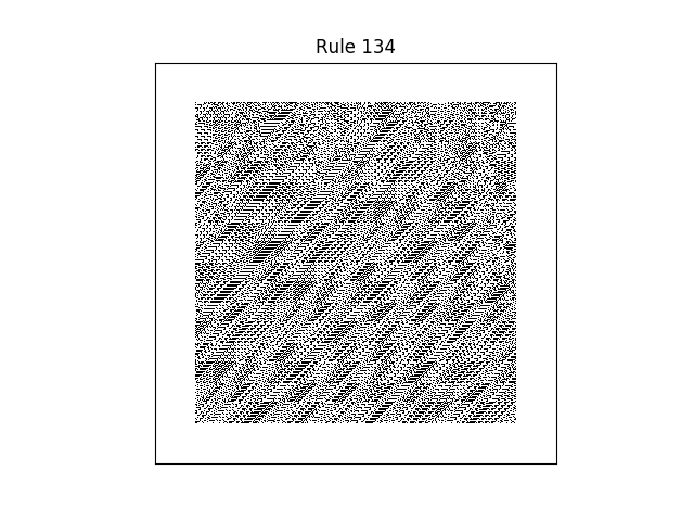 rule 134 with random initial conditions