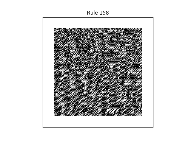 rule 158 with random initial conditions
