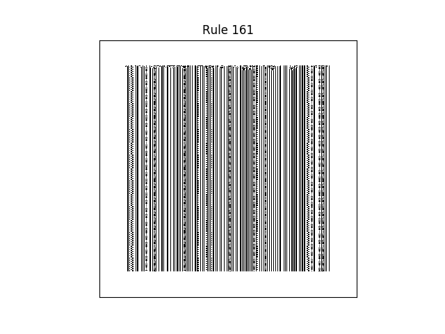 rule 161 with random initial conditions