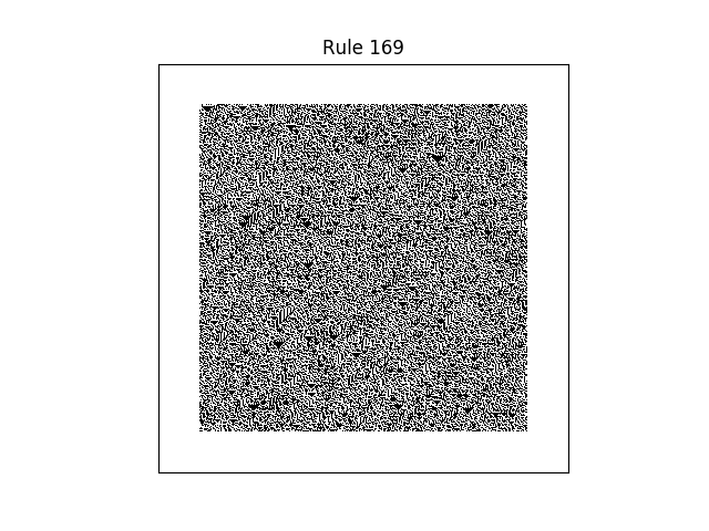 rule 169 with random initial conditions