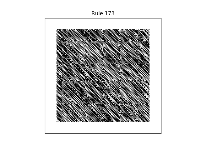 rule 173 with random initial conditions