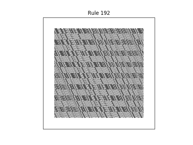 rule 192 with random initial conditions