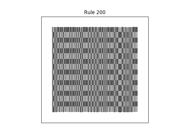 rule 200 with random initial conditions