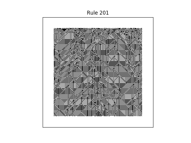 rule 201 with random initial conditions