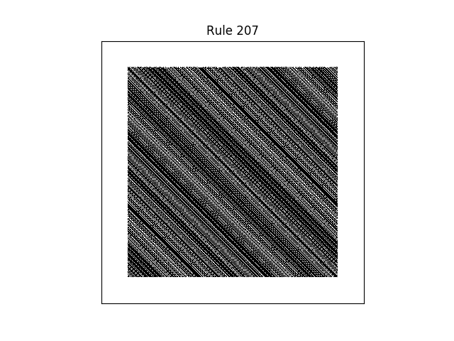 rule 207 with random initial conditions