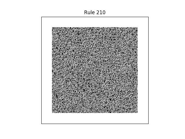 rule 210 with random initial conditions