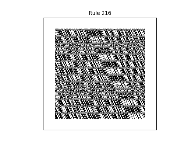 rule 216 with random initial conditions