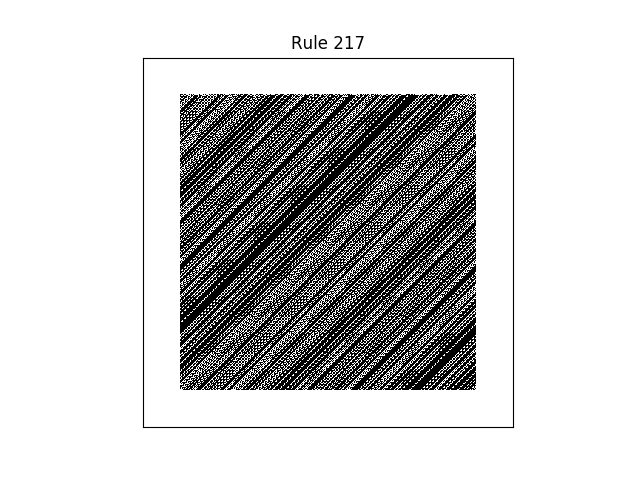 rule 217 with random initial conditions