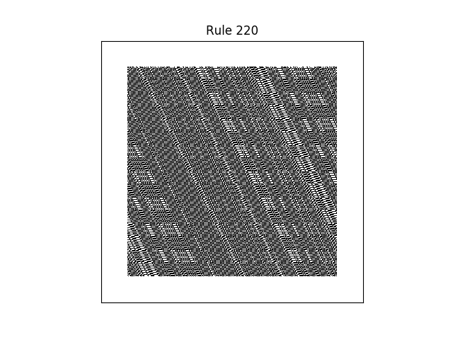 rule 220 with random initial conditions