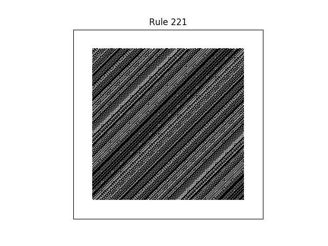 rule 221 with random initial conditions