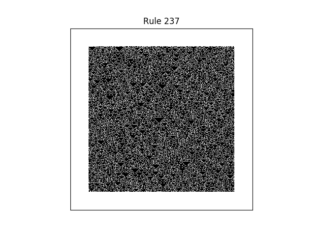 rule 237 with random initial conditions