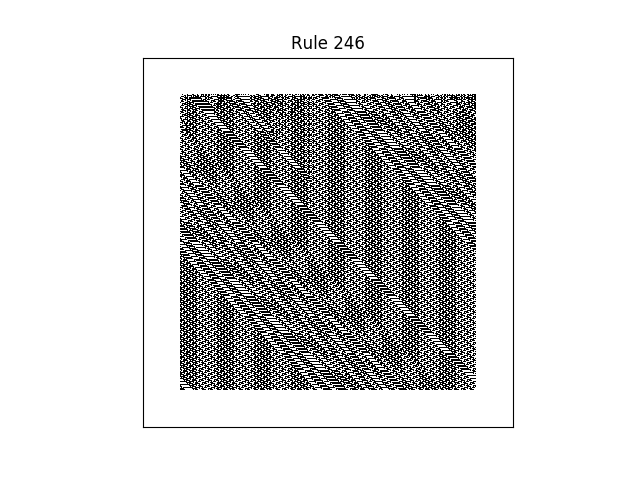 rule 246 with random initial conditions