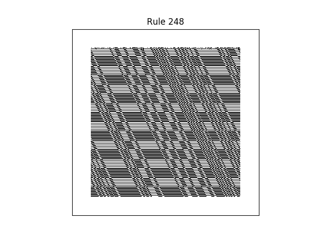 rule 248 with random initial conditions