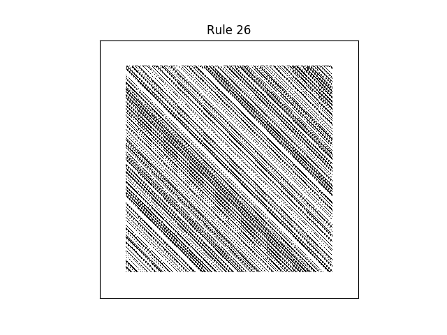 rule 26 with random initial conditions