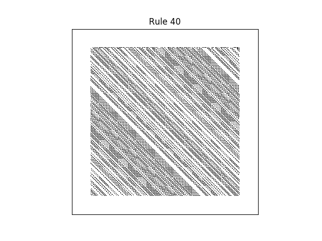 rule 40 with random initial conditions