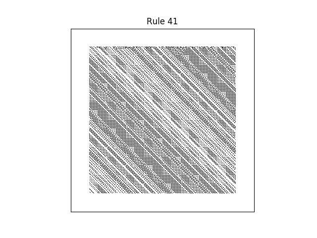 rule 41 with random initial conditions