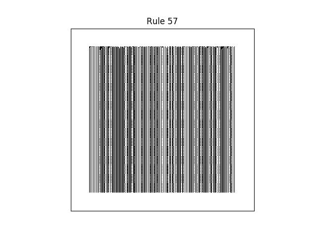 rule 57 with random initial conditions