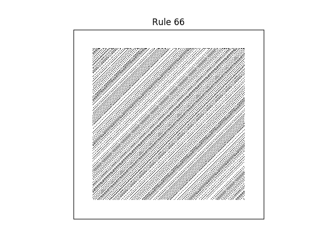 rule 66 with random initial conditions