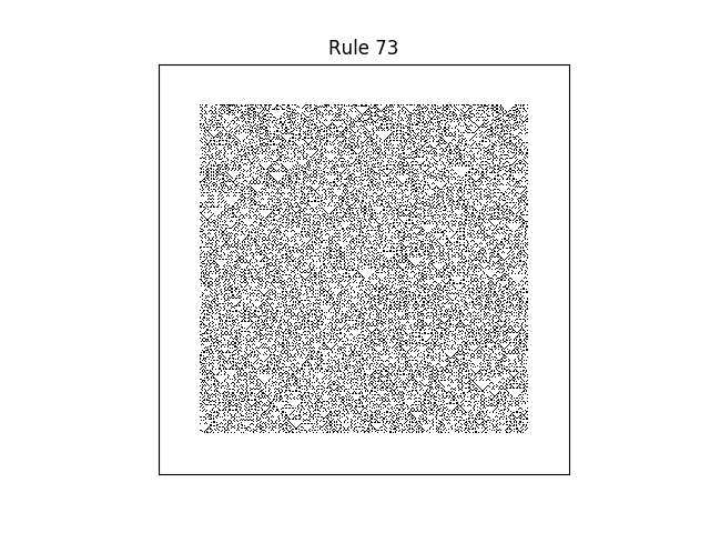 rule 73 with random initial conditions