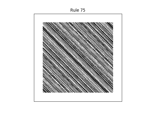rule 75 with random initial conditions