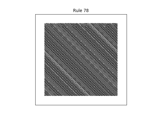 rule 78 with random initial conditions
