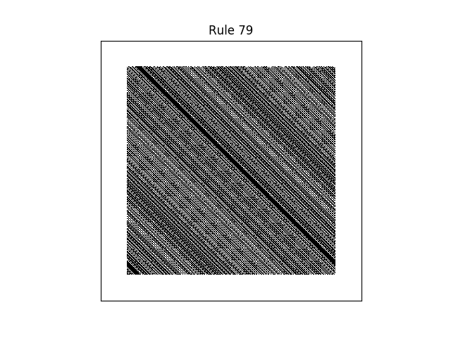 rule 79 with random initial conditions