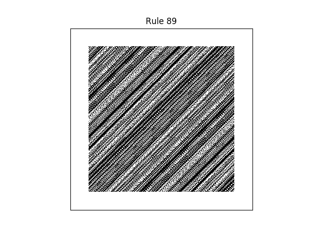 rule 89 with random initial conditions