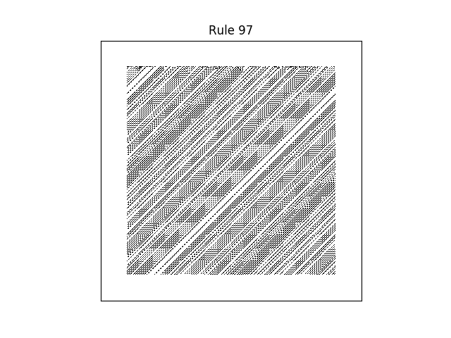 rule 97 with random initial conditions