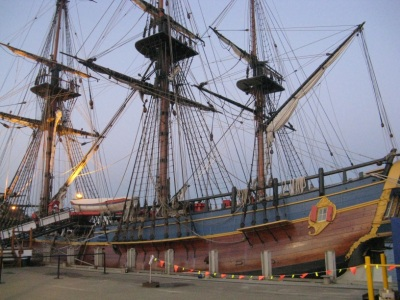 replica of HMS Endeavour