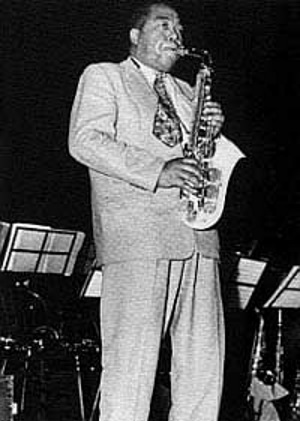 Charlie Parker playing plastic Grafton saxophone