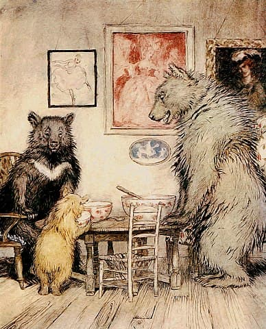 Illustration by Arthur Rackham, 1918. Public domain.