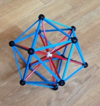 icosahedron with struts to its center