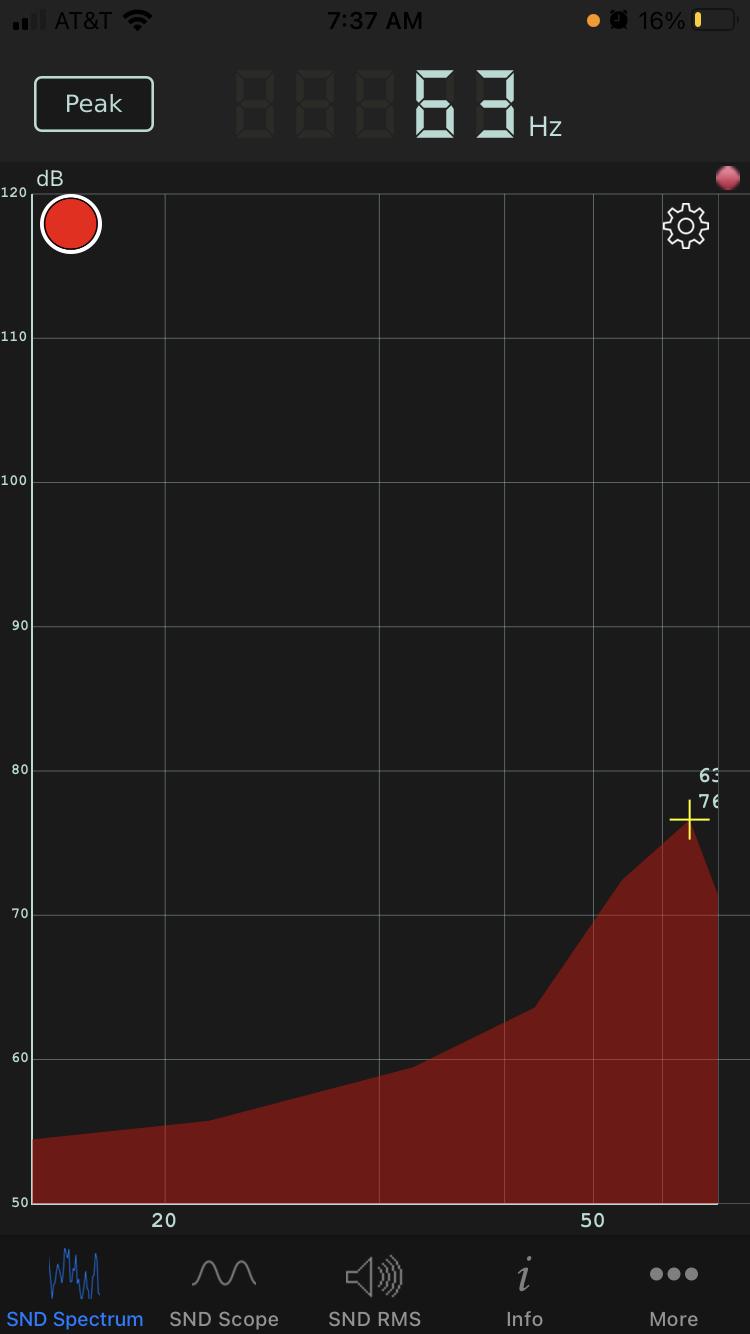 audio spectrum analyzer screen shot