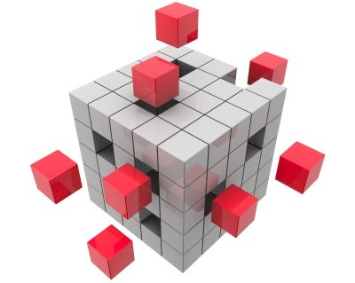 Filling in holes in a cube