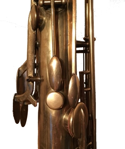 two octave keys on 1912 tenor saxophone