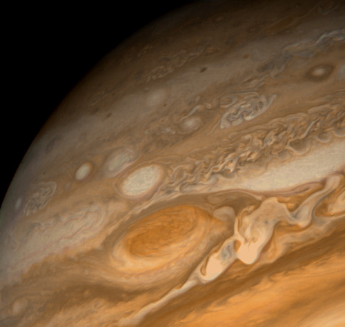 Photo of Jupiter taken by Voyager